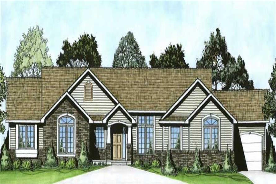 3-Bedroom, 1865 Sq Ft Ranch Home Plan - 103-1062 - Main Exterior