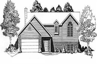 3-Bedroom, 1146 Sq Ft Small House Plans - 103-1063 - Main Exterior