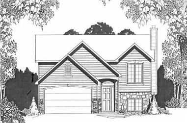 2-Bedroom, 968 Sq Ft Multi-Level House Plan - 103-1065 - Front Exterior