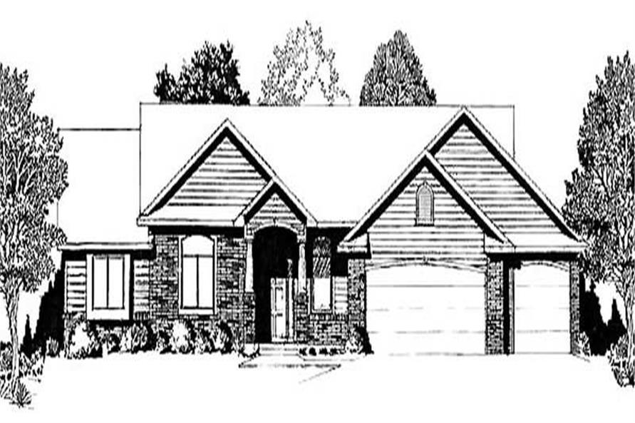 3-Bedroom, 1540 Sq Ft Ranch Home Plan - 103-1066 - Main Exterior