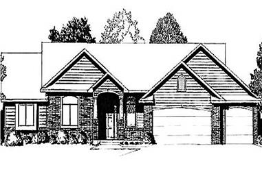 3-Bedroom, 1540 Sq Ft Ranch Home Plan - 103-1066 - Main Exterior