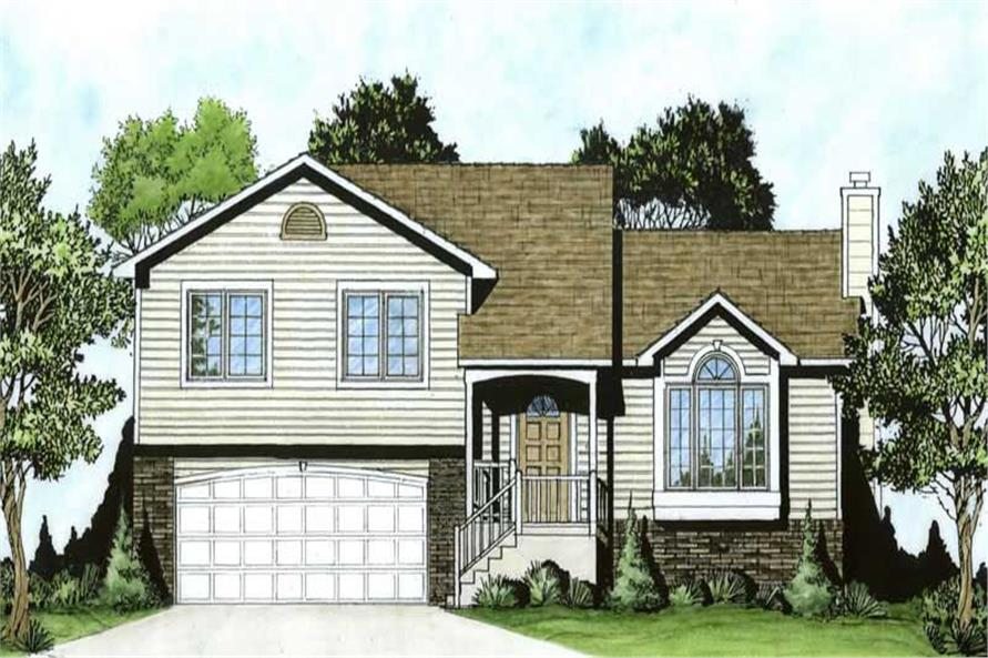 3-Bedroom, 1243 Sq Ft Small House Plans - 103-1067 - Front Exterior