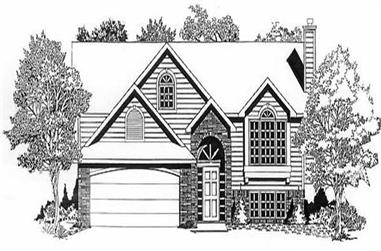 3-Bedroom, 1198 Sq Ft Small House Plans - 103-1068 - Main Exterior