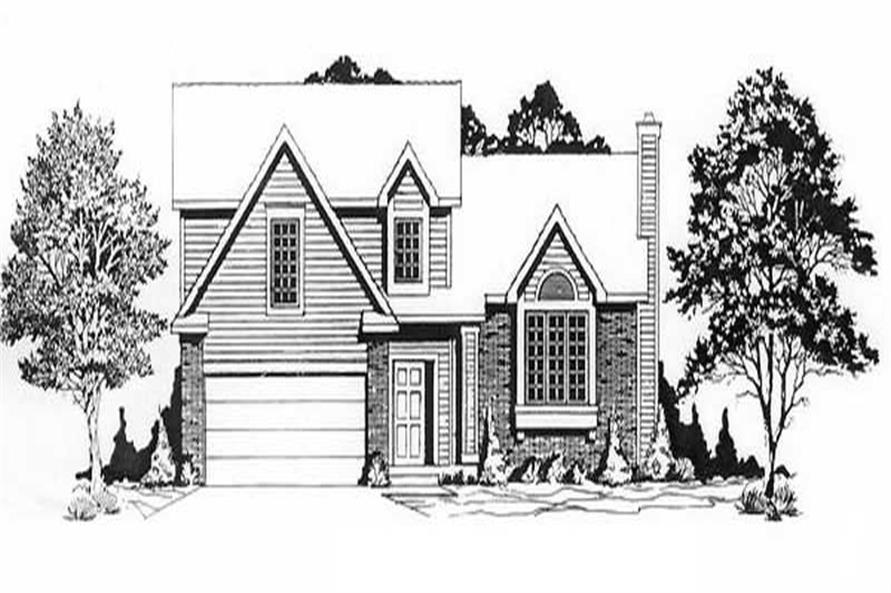 3-Bedroom, 1225 Sq Ft Small House Plans - 103-1071 - Main Exterior