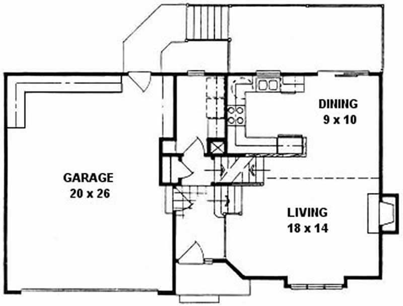 Small Home With 3 Bdrms 1225 Sq Ft Floor Plan 103 1071