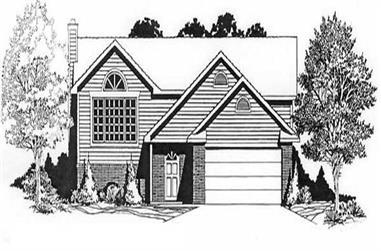 3-Bedroom, 1230 Sq Ft Ranch Home Plan - 103-1072 - Main Exterior