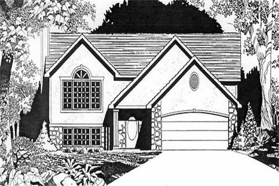 2-Bedroom, 1231 Sq Ft Small House Plans - 103-1073 - Main Exterior
