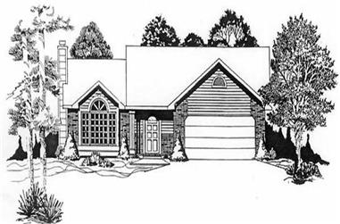 3-Bedroom, 1235 Sq Ft Ranch Home Plan - 103-1074 - Main Exterior