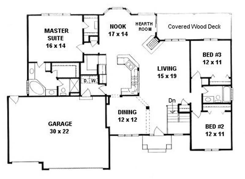 Ranch home with 3 bdrms 1764 sq ft house plan 103 1077 for 1077 marinaside crescent floor plan