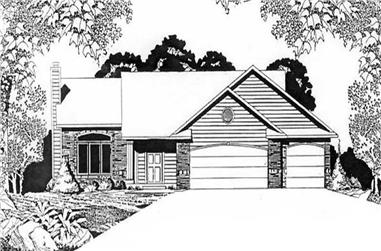 2-Bedroom, 1254 Sq Ft Ranch Home Plan - 103-1079 - Main Exterior