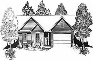 3-Bedroom, 1189 Sq Ft Ranch Home Plan - 103-1081 - Main Exterior