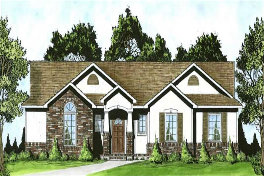 3-Bedroom, 1307 Sq Ft Ranch Home Plan - 103-1084 - Main Exterior