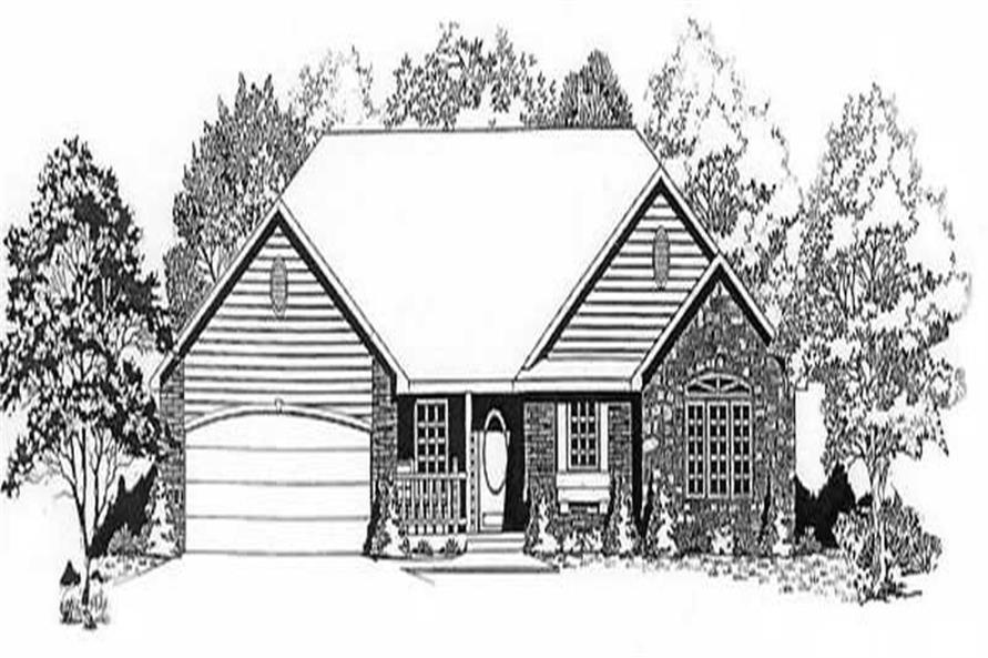 3-Bedroom, 1318 Sq Ft Ranch Home Plan - 103-1085 - Main Exterior