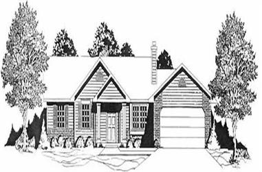 2-Bedroom, 982 Sq Ft Ranch House Plan - 103-1087 - Front Exterior