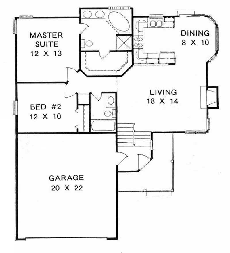 Multi-Level Home With 2 Bdrms, 1000 Sq Ft