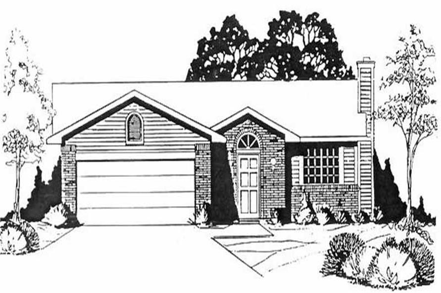 Main image for house plan # 16502