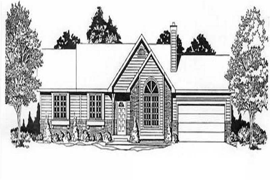 3-Bedroom, 1182 Sq Ft Ranch Home Plan - 103-1093 - Main Exterior