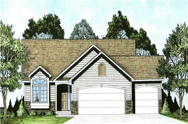 2-Bedroom, 1112 Sq Ft Ranch Home Plan - 103-1094 - Main Exterior