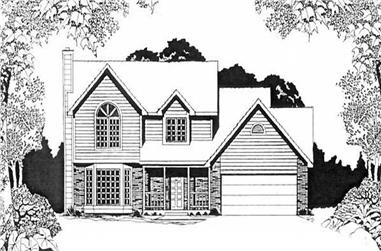 3-Bedroom, 1552 Sq Ft Small House Plans - 103-1095 - Front Exterior