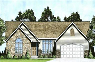 3-Bedroom, 1645 Sq Ft Ranch House Plan - 103-1096 - Front Exterior