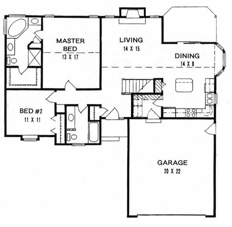 ranch home with 2 bdrms 1200 sq ft house plan 103 1099 tpc. Black Bedroom Furniture Sets. Home Design Ideas
