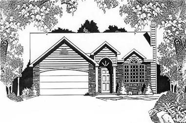 3-Bedroom, 1208 Sq Ft Ranch Home Plan - 103-1102 - Main Exterior