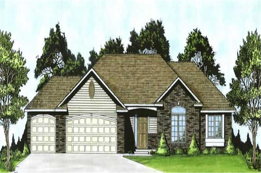 3-Bedroom, 1508 Sq Ft Ranch Home Plan - 103-1104 - Main Exterior
