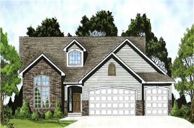 3-Bedroom, 1461 Sq Ft Ranch House Plan - 103-1106 - Front Exterior