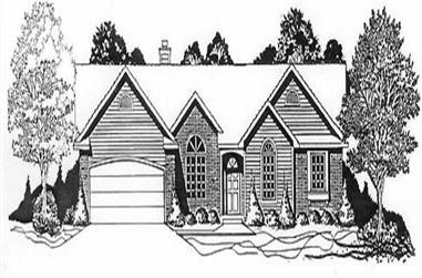 3-Bedroom, 1459 Sq Ft Ranch House Plan - 103-1108 - Front Exterior