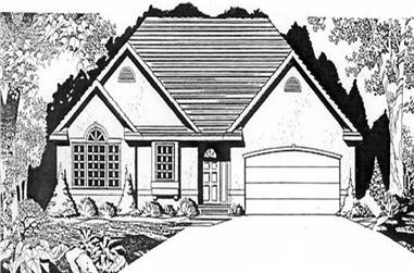 2-Bedroom, 1265 Sq Ft Ranch Home Plan - 103-1109 - Main Exterior