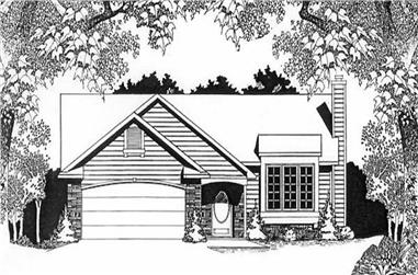 2-Bedroom, 1160 Sq Ft Ranch Home Plan - 103-1111 - Main Exterior