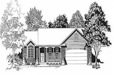 3-Bedroom, 1179 Sq Ft Ranch Home Plan - 103-1112 - Main Exterior