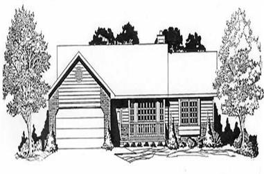 2-Bedroom, 1244 Sq Ft Ranch House Plan - 103-1113 - Front Exterior