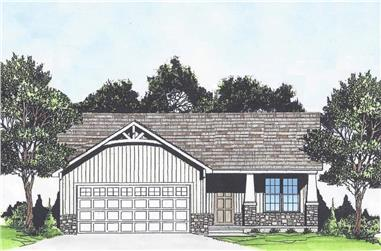 2-Bedroom, 880 Sq Ft Cottage House - Plan #103-1114 - Front Exterior