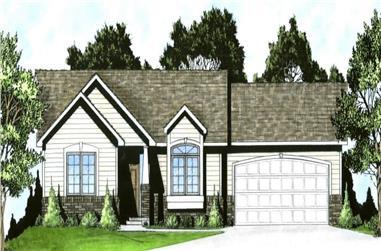 2-Bedroom, 922 Sq Ft Ranch Home - Plan #103-1115 - Main Exterior
