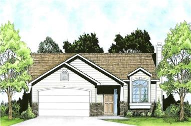 2-Bedroom, 980 Sq Ft Transitional Home - Plan #103-1116 - Main Exterior