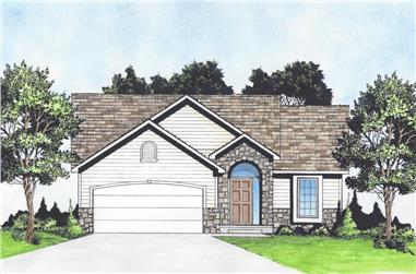2-Bedroom, 1012 Sq Ft Traditional House - Plan #103-1117 - Front Exterior
