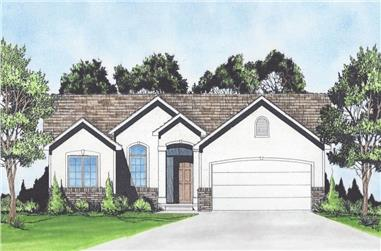 3-Bedroom, 1039 Sq Ft Ranch Home - Plan #103-1118 - Main Exterior