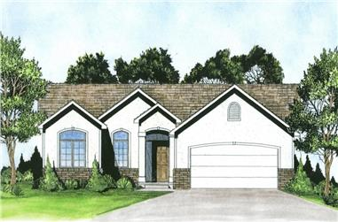 3-Bedroom, 1108 Sq Ft Traditional House - Plan #103-1119 - Front Exterior