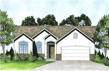3-Bedroom, 1184 Sq Ft Ranch Home - Plan #103-1121 - Main Exterior