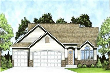 3-Bedroom, 1206 Sq Ft Traditional Home - Plan #103-1122 - Main Exterior