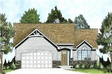 2-Bedroom, 1229 Sq Ft Ranch House - Plan #103-1124 - Front Exterior