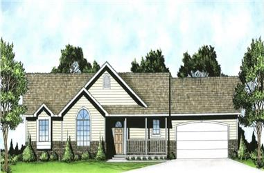 3-Bedroom, 1236 Sq Ft Country House - Plan #103-1125 - Front Exterior