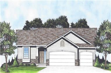 3-Bedroom, 1279 Sq Ft Ranch House - Plan #103-1127 - Front Exterior