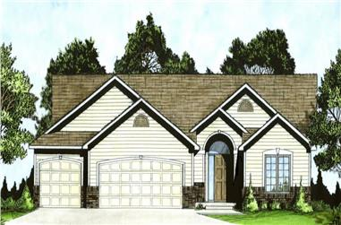 3-Bedroom, 1288 Sq Ft Ranch House - Plan #103-1128 - Front Exterior