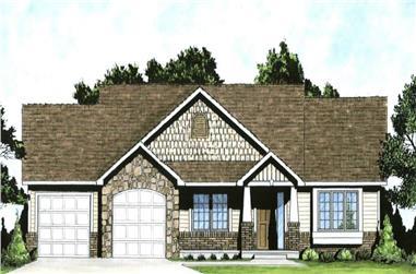 3-Bedroom, 1290 Sq Ft Craftsman Home - Plan #103-1129 - Main Exterior