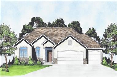 3-Bedroom, 1315 Sq Ft Ranch Home - Plan #103-1130 - Main Exterior