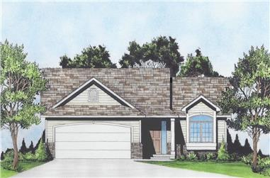 2-Bedroom, 1033 Sq Ft Ranch Home - Plan #103-1131 - Main Exterior