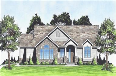 2-Bedroom, 1360 Sq Ft Craftsman Home - Plan #103-1132 - Main Exterior