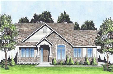 3-Bedroom, 1370 Sq Ft Craftsman House - Plan #103-1133 - Front Exterior